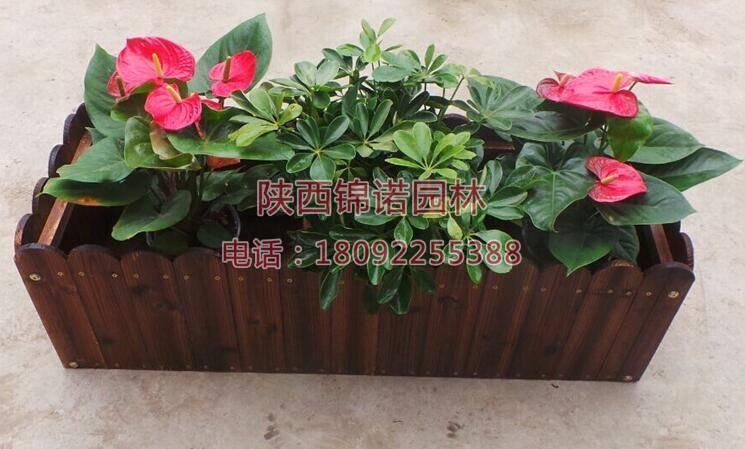 长方形防腐木花箱03