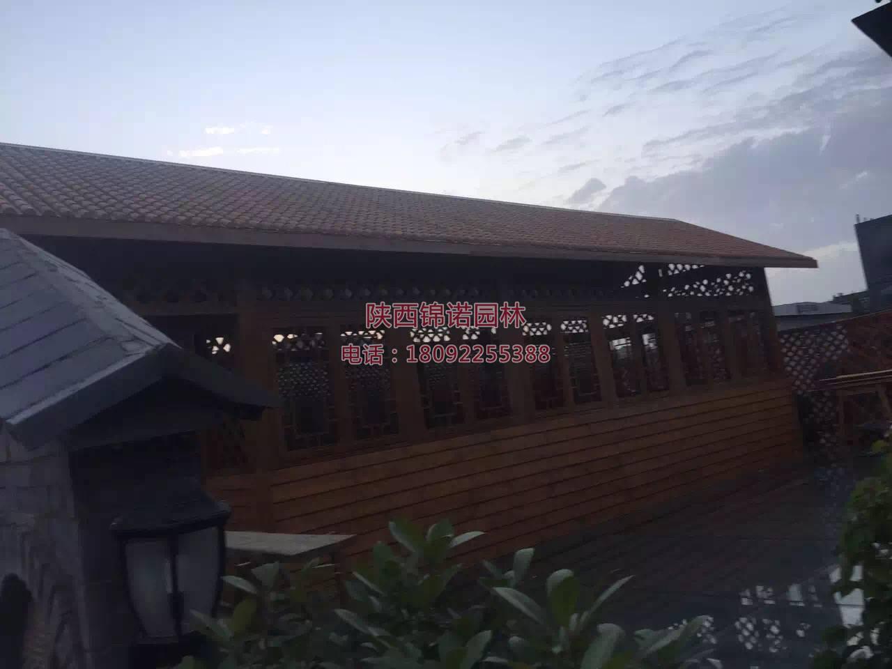 陕西锦诺园林防腐木案例02