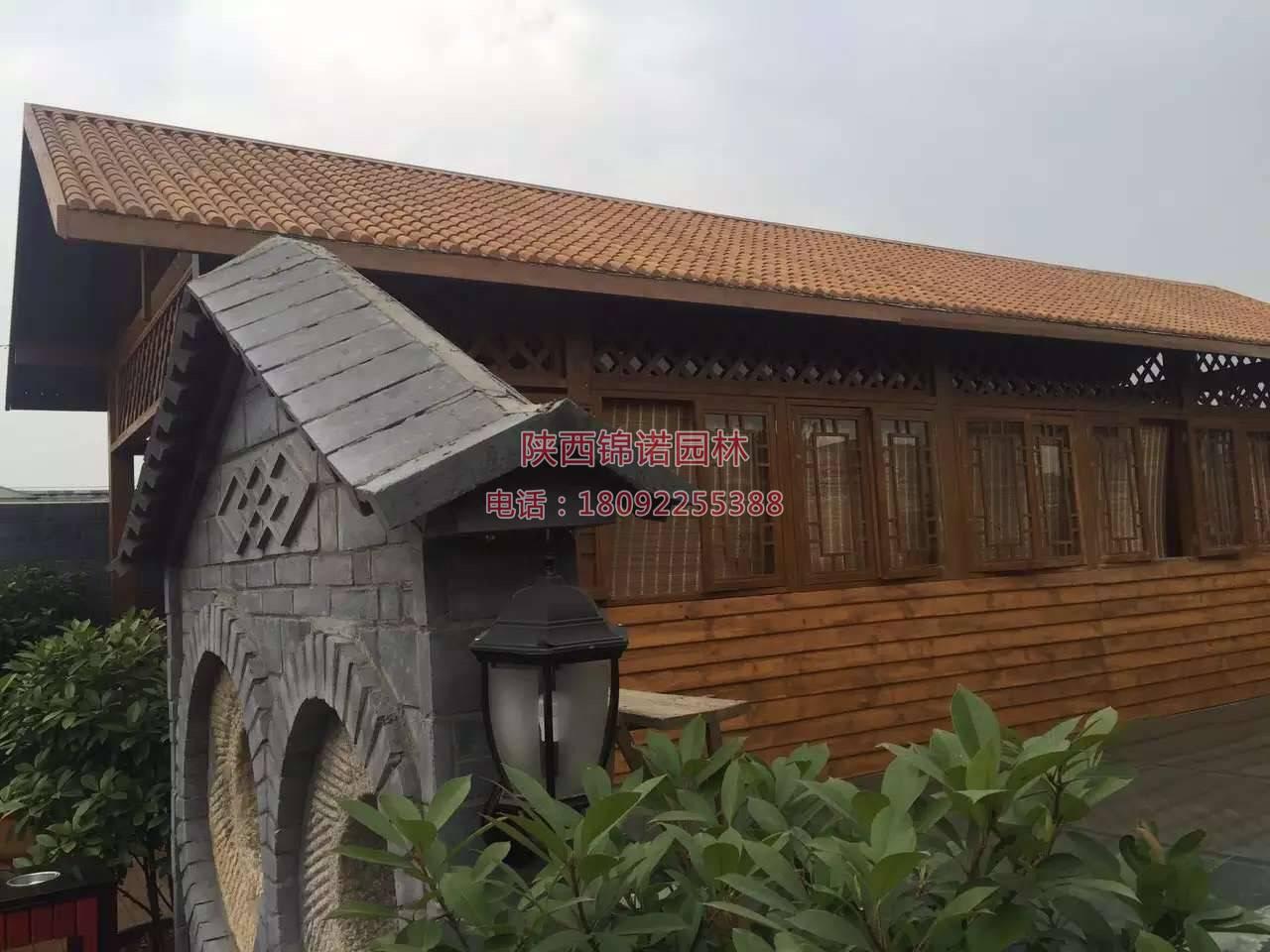 陕西锦诺园林防腐木施工案例