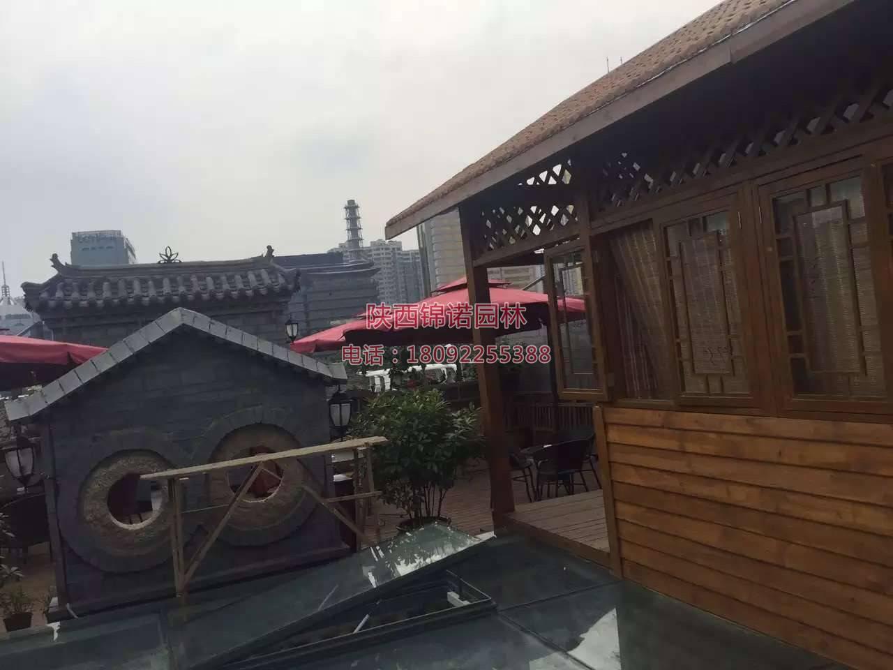 陕西锦诺园林防腐木施工案例4